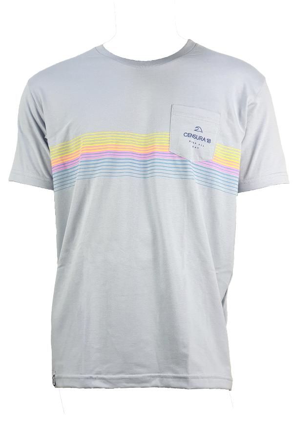 Camiseta Censura 18 Barrado Tie Dye