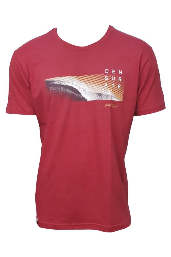 Camiseta Censura 18  Nova Onda Vermelha