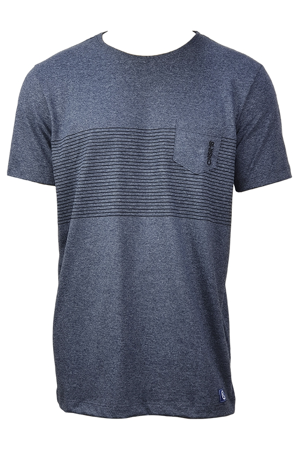 Camiseta  Especial  Barrado Bolso