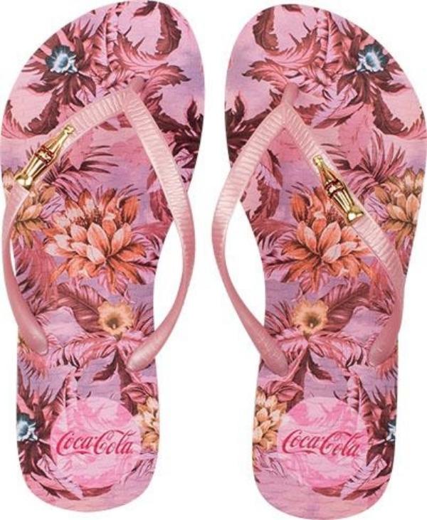 Chinelo Coca-Cola Jungle Floral