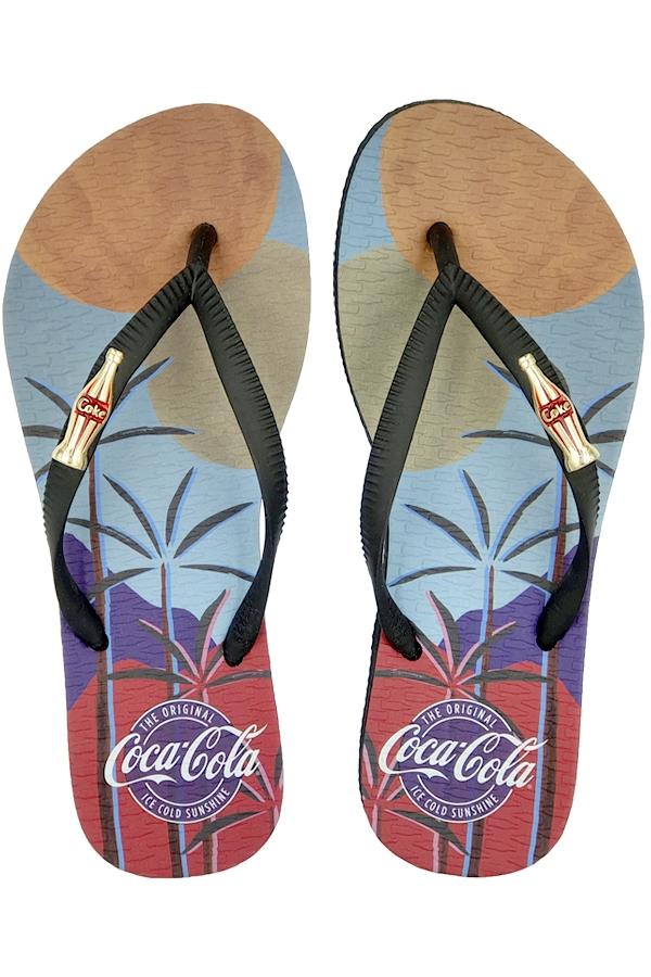 Chinelo Coca-Cola Tropical Beach