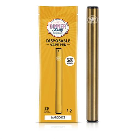 Pod Descartável Dinner Lady - 400 Puffs - Vape Pen 2.0 - Mango Ice