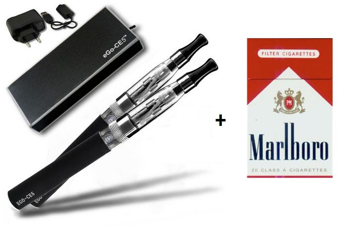 Combo Cigarro Eletrônico CE5 Com LiQua Marlboro 12mg