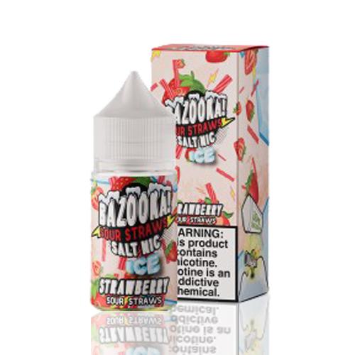 Líquido Bazooka! Salt - Sour Straws - Strawberry ice