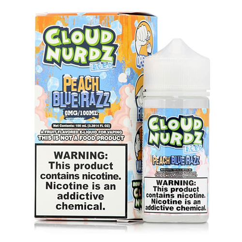 Líquido Cloud Nurdz - Peach Blue Razz Ice