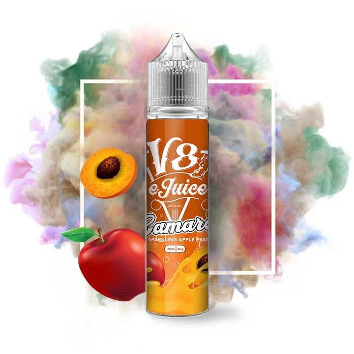 Líquido V8 E-Juice - Sparkling Apple Peach - Camaro
