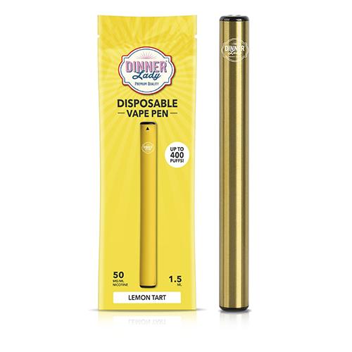 Pod Descartável Dinner Lady - 400 Puffs - Vape Pen 2.0 - Lemon Tart