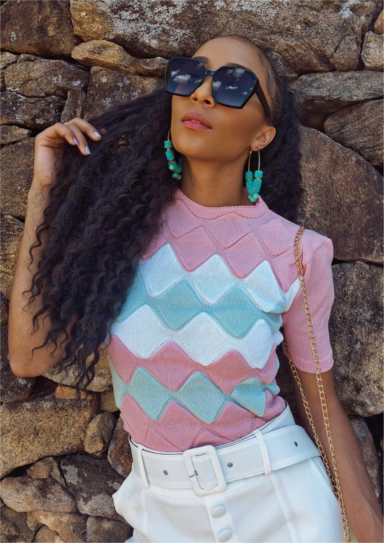 blusa dália cor predominante: rosa