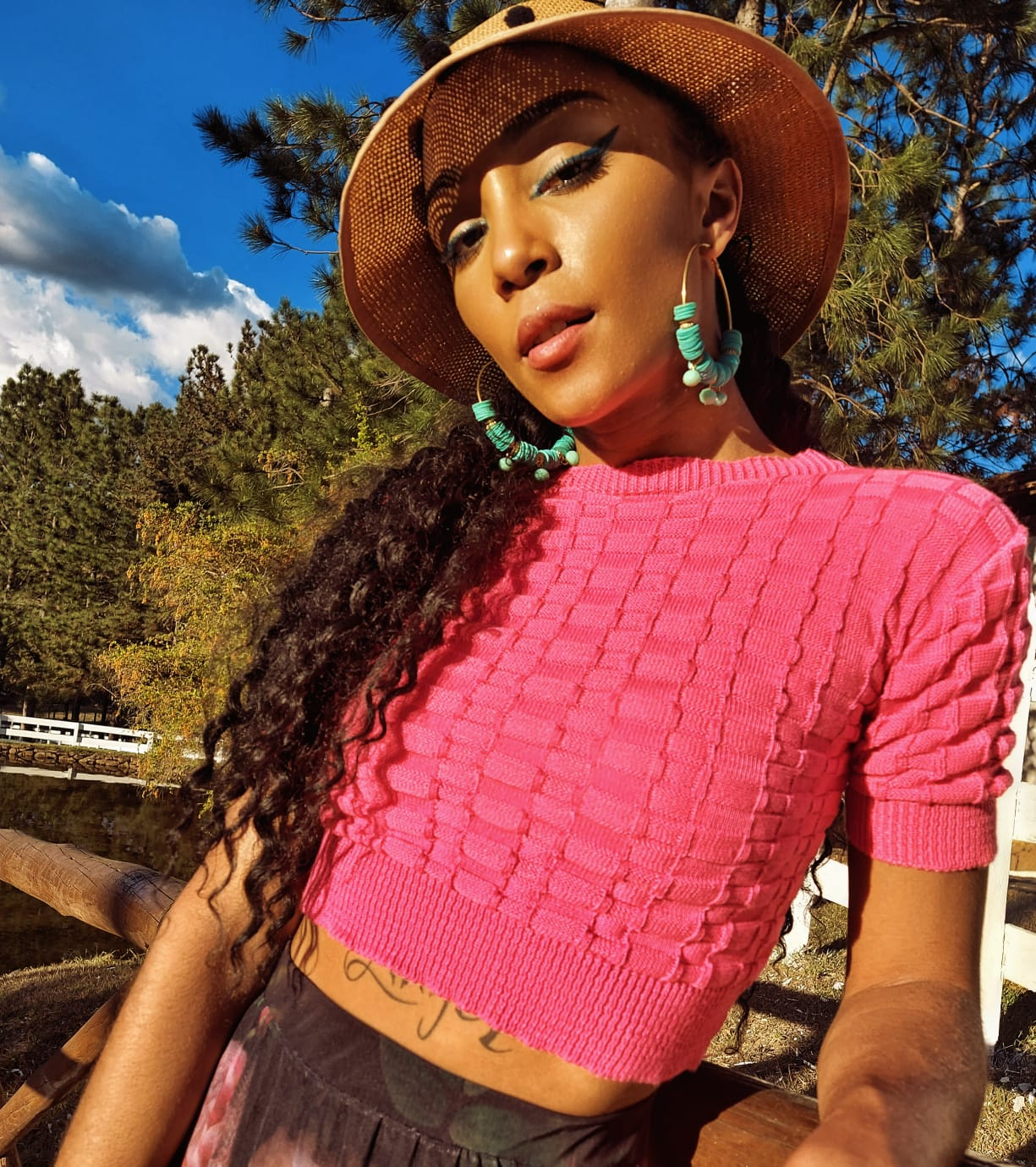 Cropped Leveza cor: Pink