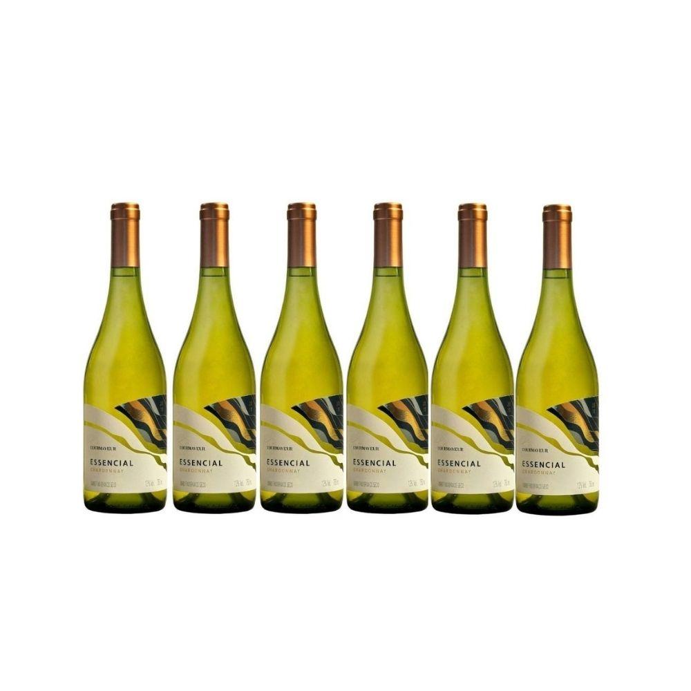 Kit Courmayeur Vinho Essencial Chardonnay 750ml