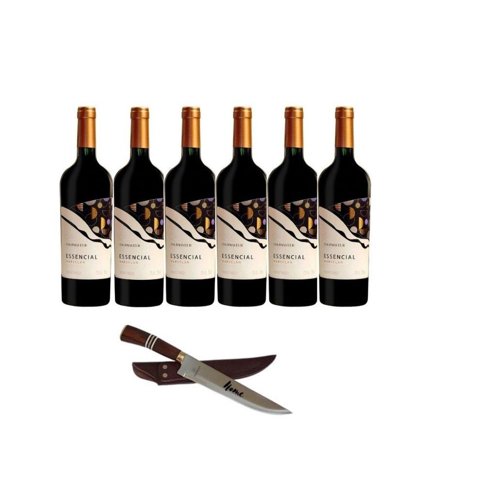 Kit Gaudério com 06 unidades Vinho Essencial Marselan 750ml
