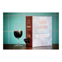 Vinho Bag Serra Gaúcha Merlot 3l