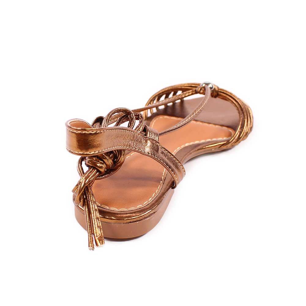 Sandália de Amarrar Bico Fino