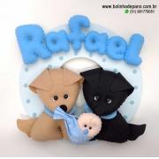Enfeite De Porta Cachorro Com Bebê 2