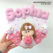 Enfeite Porta Maternidade Menina Flor