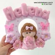 Enfeite Porta Maternidade Menina Flor 6
