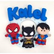Enfeite Porta Maternidade Super-Herói heróis