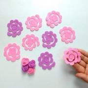 Flor Espiral de Feltro 12 unidades