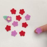 Florzinha de Feltro 48 unidades cartelinha recorte aplique Flor