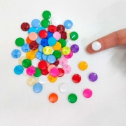 Mini Botão Confete Colorido 12mm