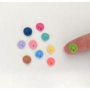 Mini Chupeta colorida 10 unidades 9mm