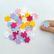 Mini Florzinha Tecido Prensado 50 unidades