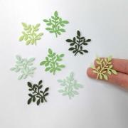 Mini recorte Ramos de folhas nº1 12 unidades Feltro