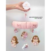 Móbile de Berço Bonecas Rosa Velho