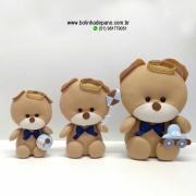 Trio de Ursinhos 30cm - 25cm - 20cm