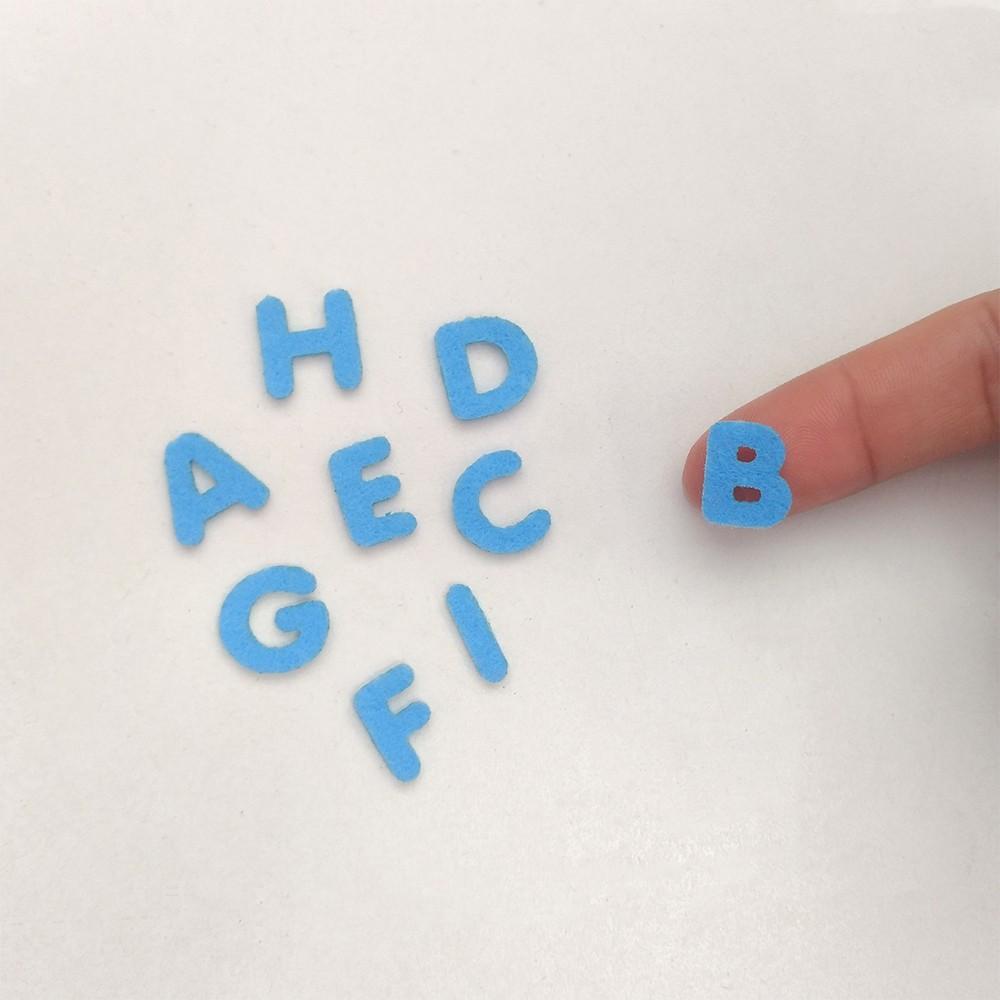Cartela Letras de Feltro 1,5cm Alfabeto