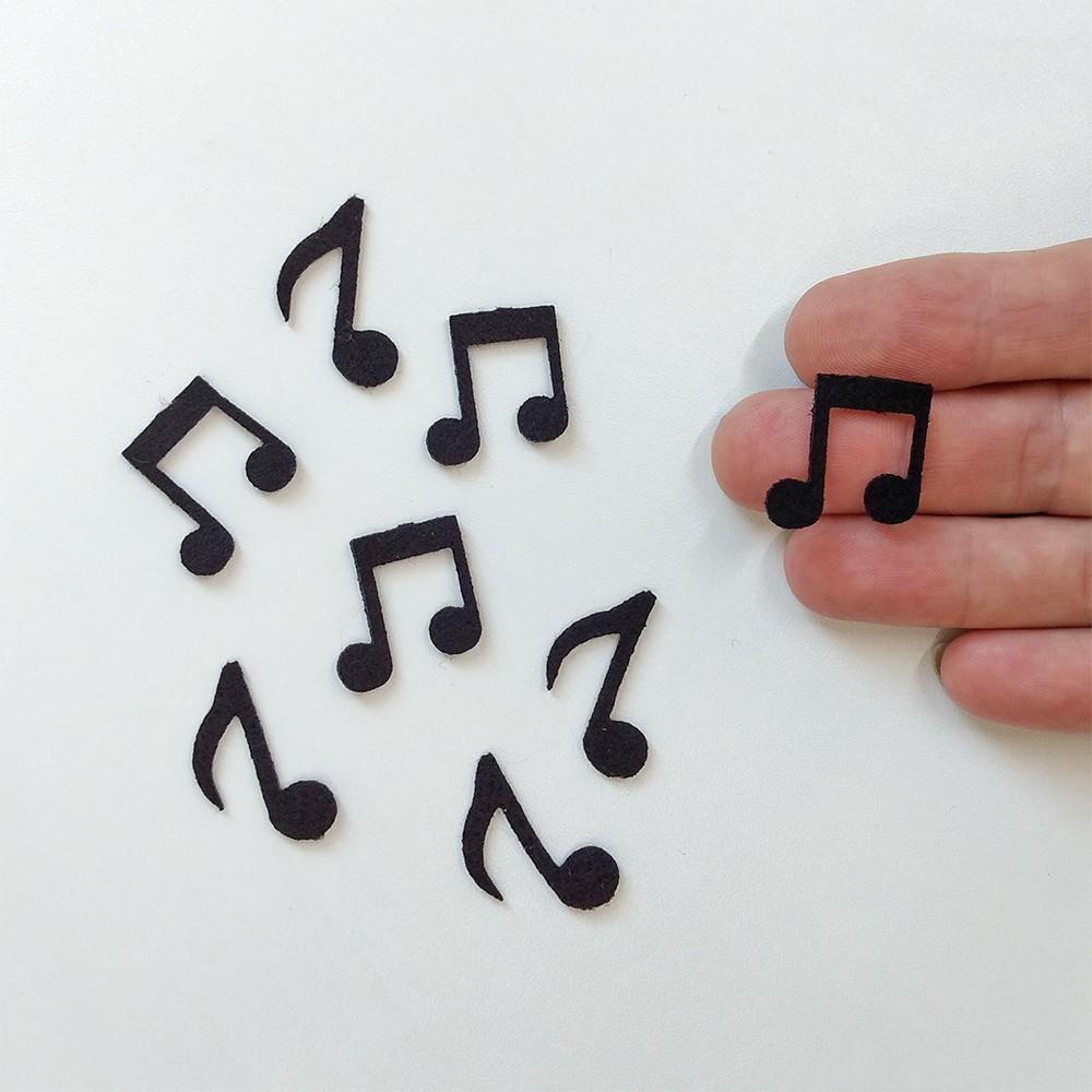 CARTELINHA Notas Musicais 28 unidades recorte feltro
