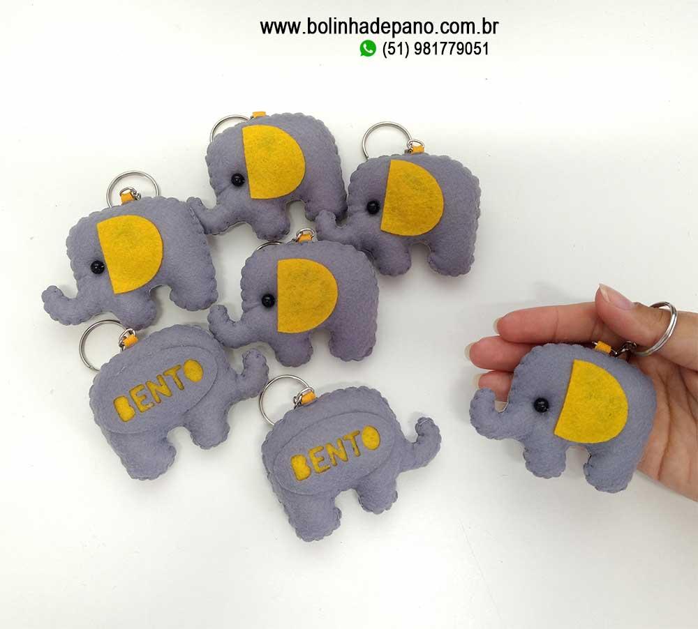 Chaveiro de Elefante com Nome 10 unidades