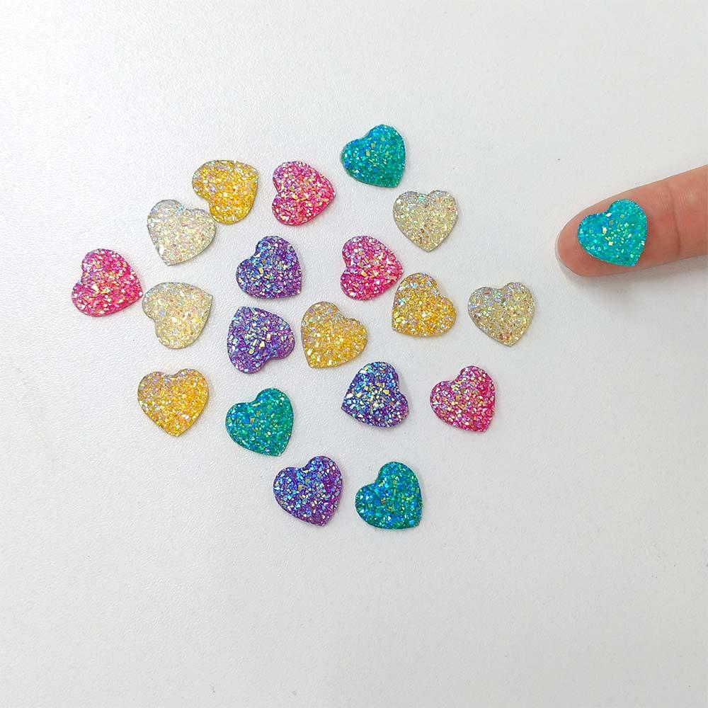 Coração Glitter 20 unidades