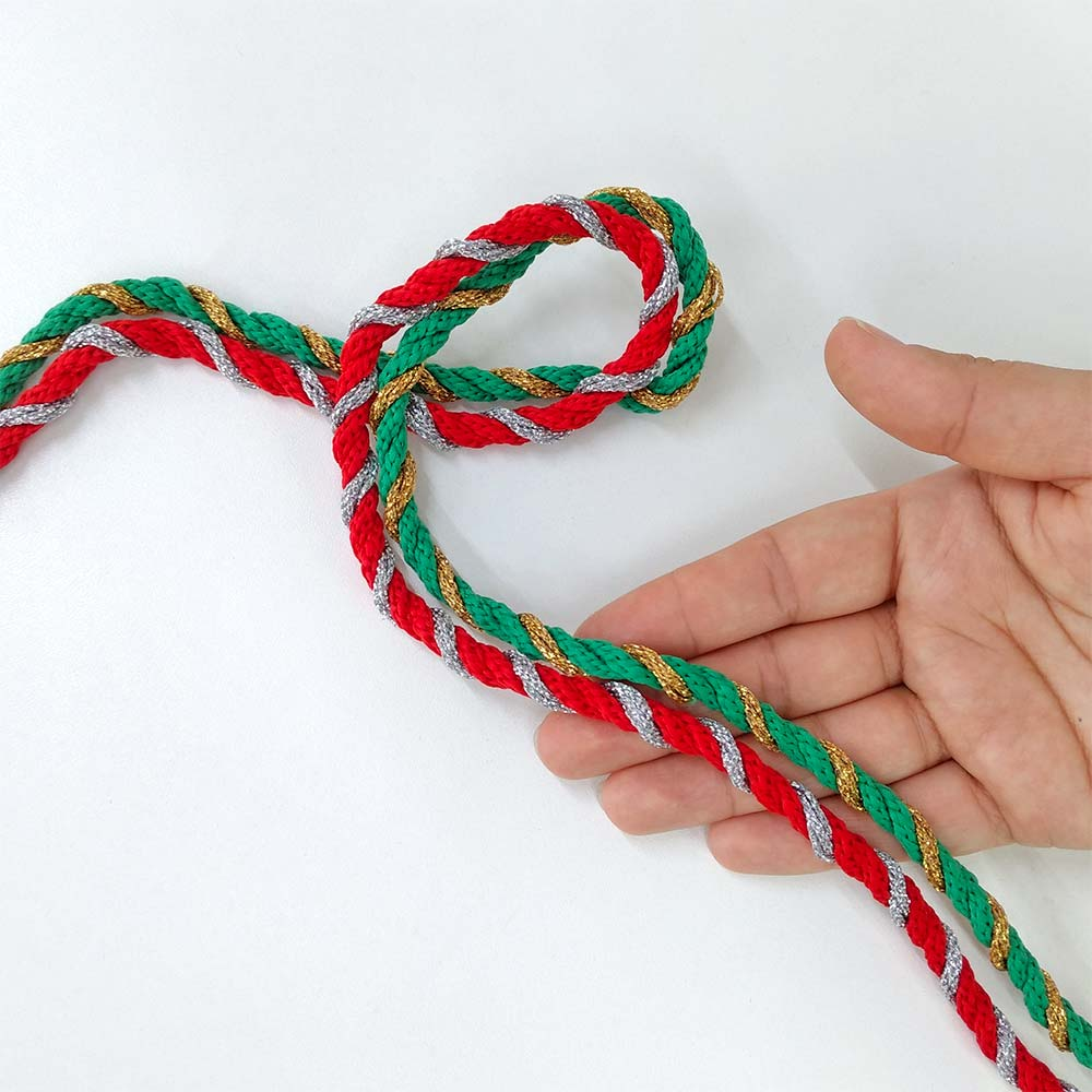 Cordão de Natal Verde e Vermelho 4 metros