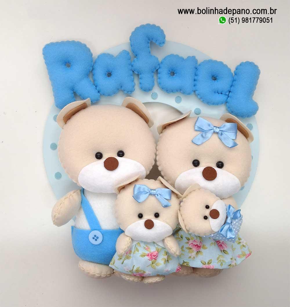 Enfeite Maternidade Família de Ursos 12
