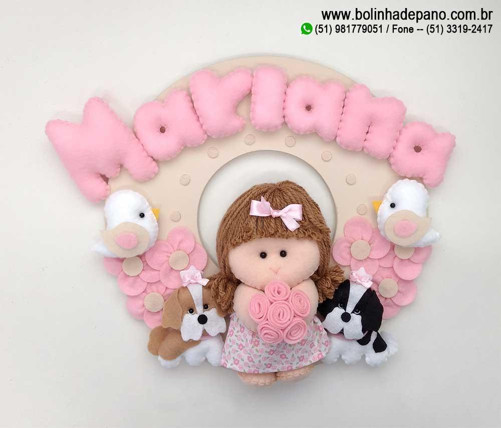 Enfeite Porta maternidade Boneca Cão 3
