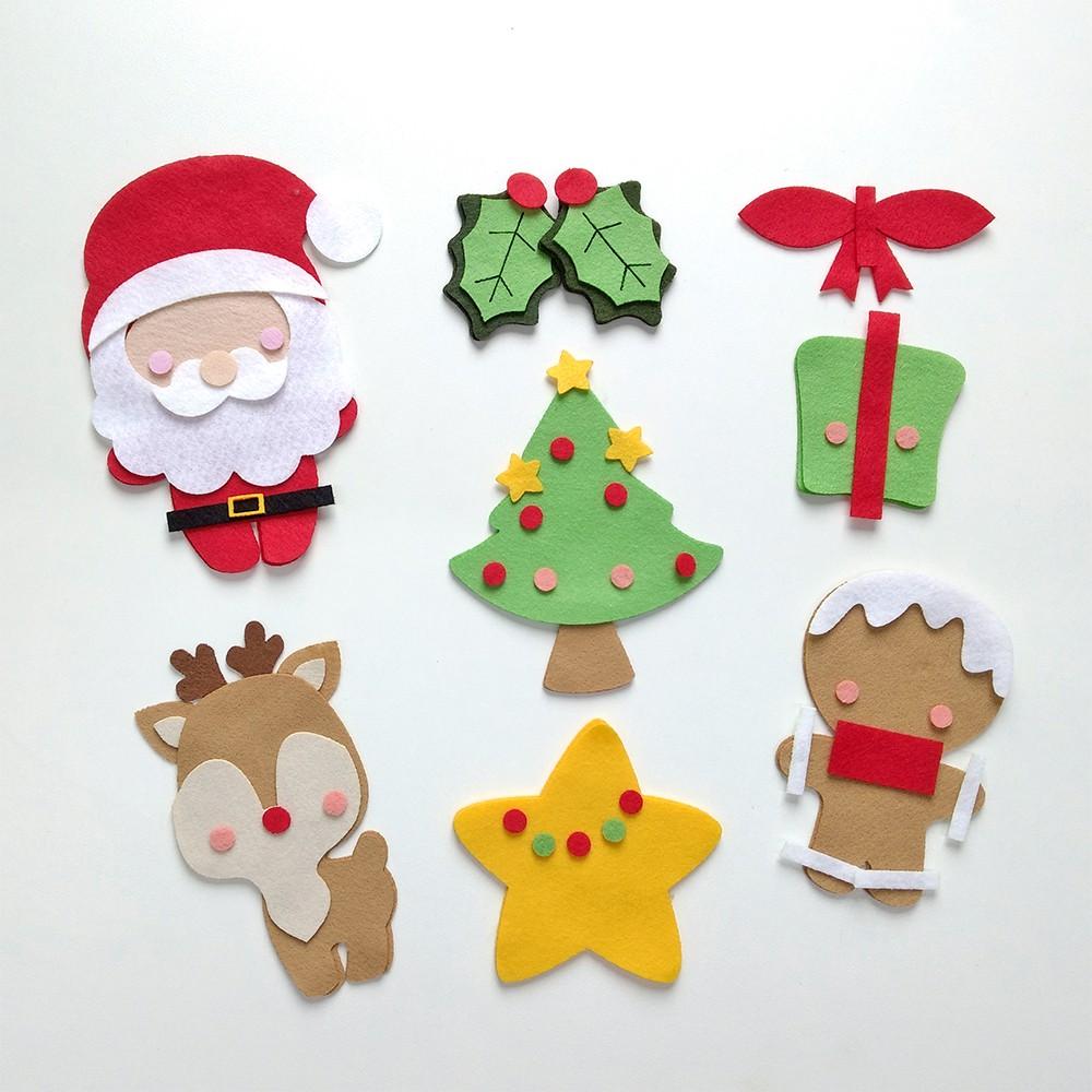 Kit 7 Recortes de Natal em Feltro