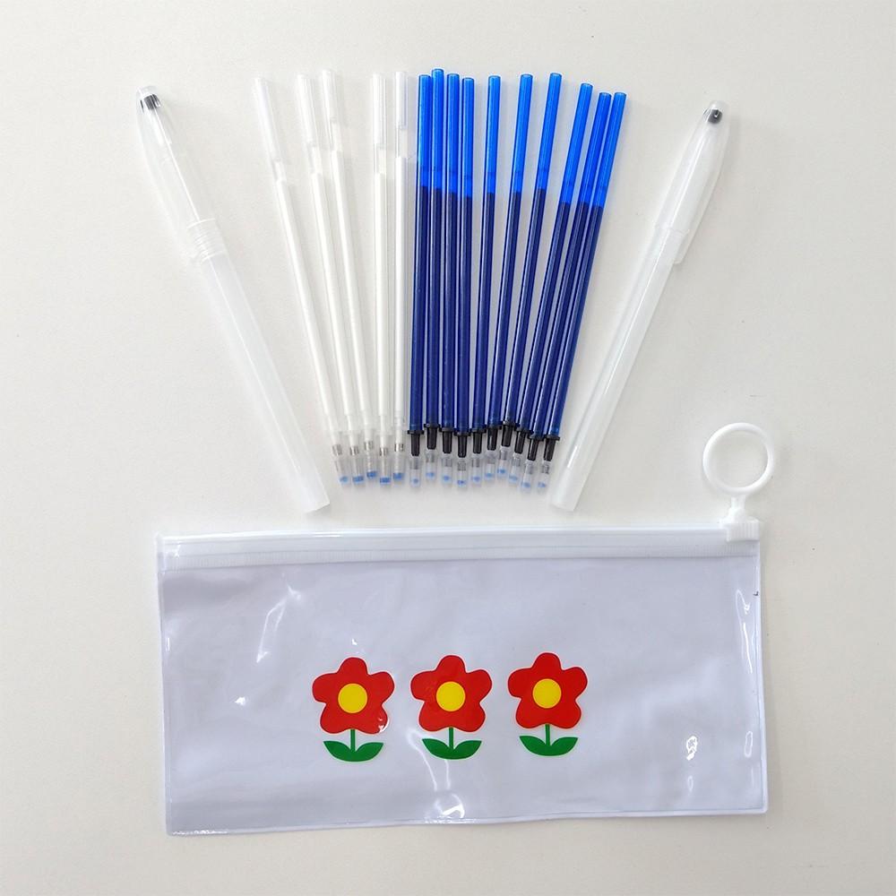 Kit Estojo Mágico Fantasminha 15 unidades Azul Branca com BRINDE
