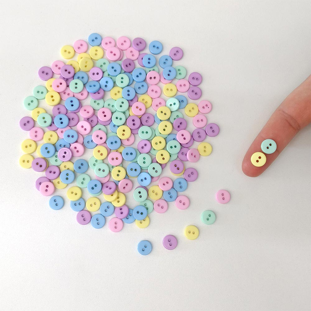Kit Pacote Mini Botão 9mm 100 unidades
