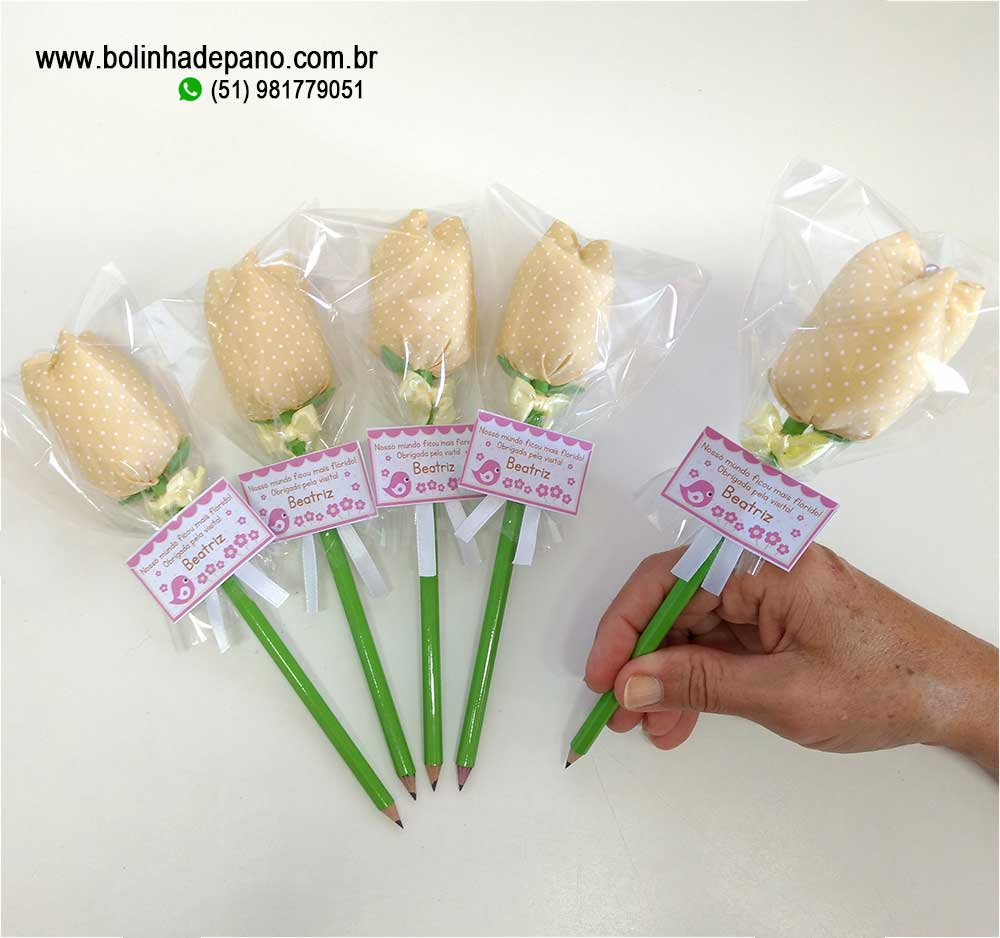 Lembrancinha Lápis Tulipa CORES DIVERSAS