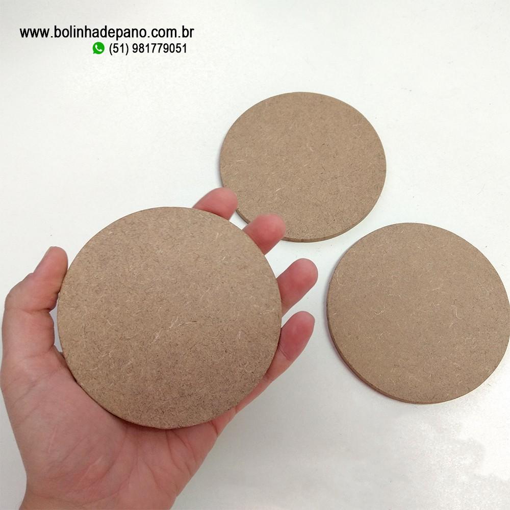 MDF Circular 10cm Bolacha 15 unidades