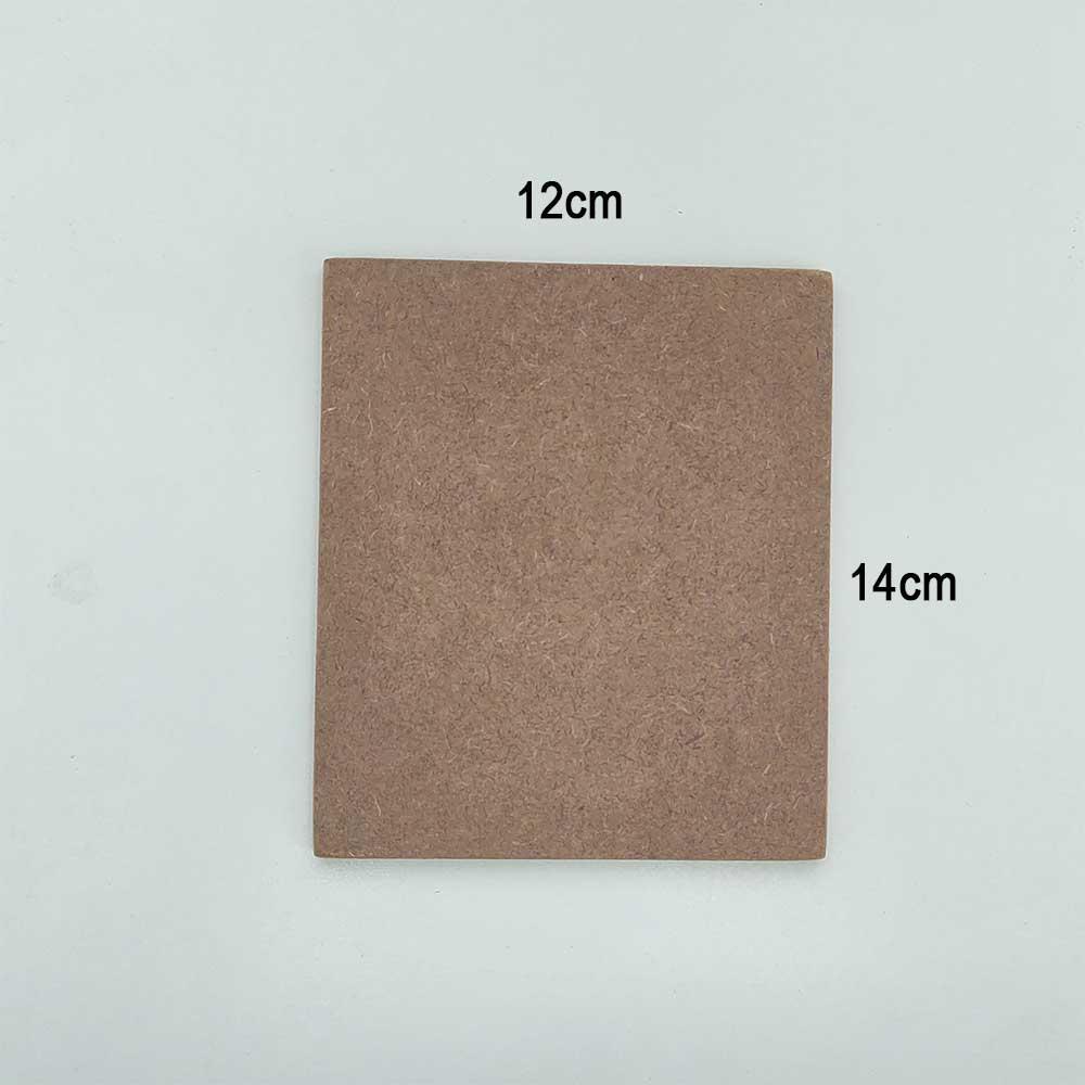MDF retangular 12cm x 14cm Quadrinho 4 unidades