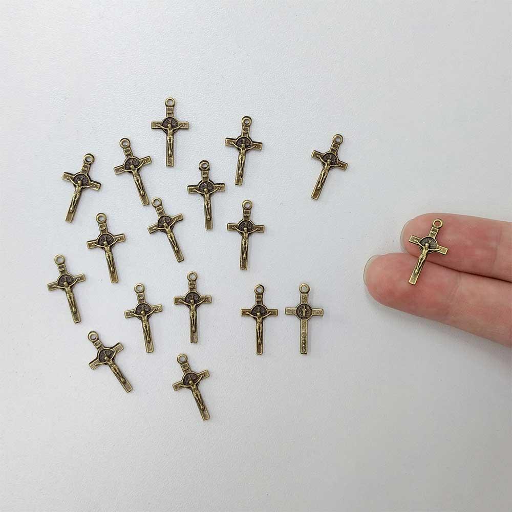 Mini Crucifixo Dourado 20 unidades