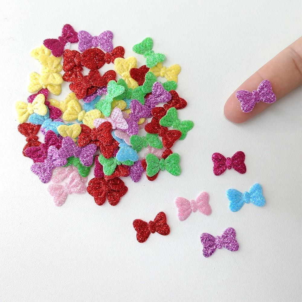 Mini Lacinho com Glitter 50 unidades