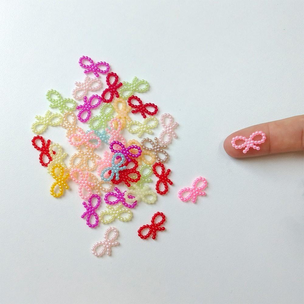 Mini Laço Perolado Colorido 50 unidades