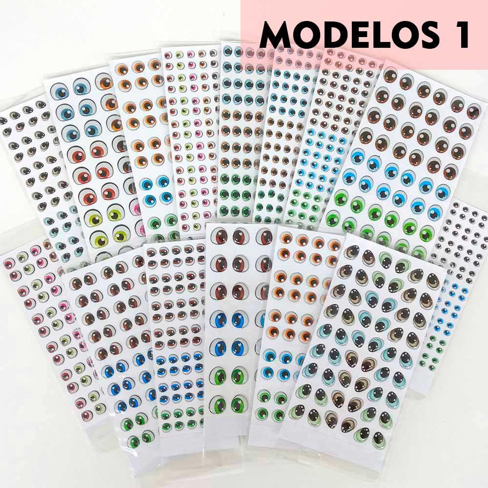 Olhos Resinados Cartela Modelos 1