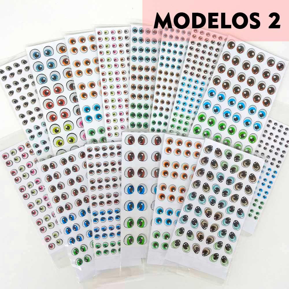 Olhos Resinados Cartela Modelos 2