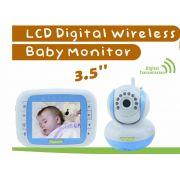 Babá Eletrônica DigiBaby 3.5´ Wireless - Visão Noturna - Sensor de Temperatura - Conversa com o bebê