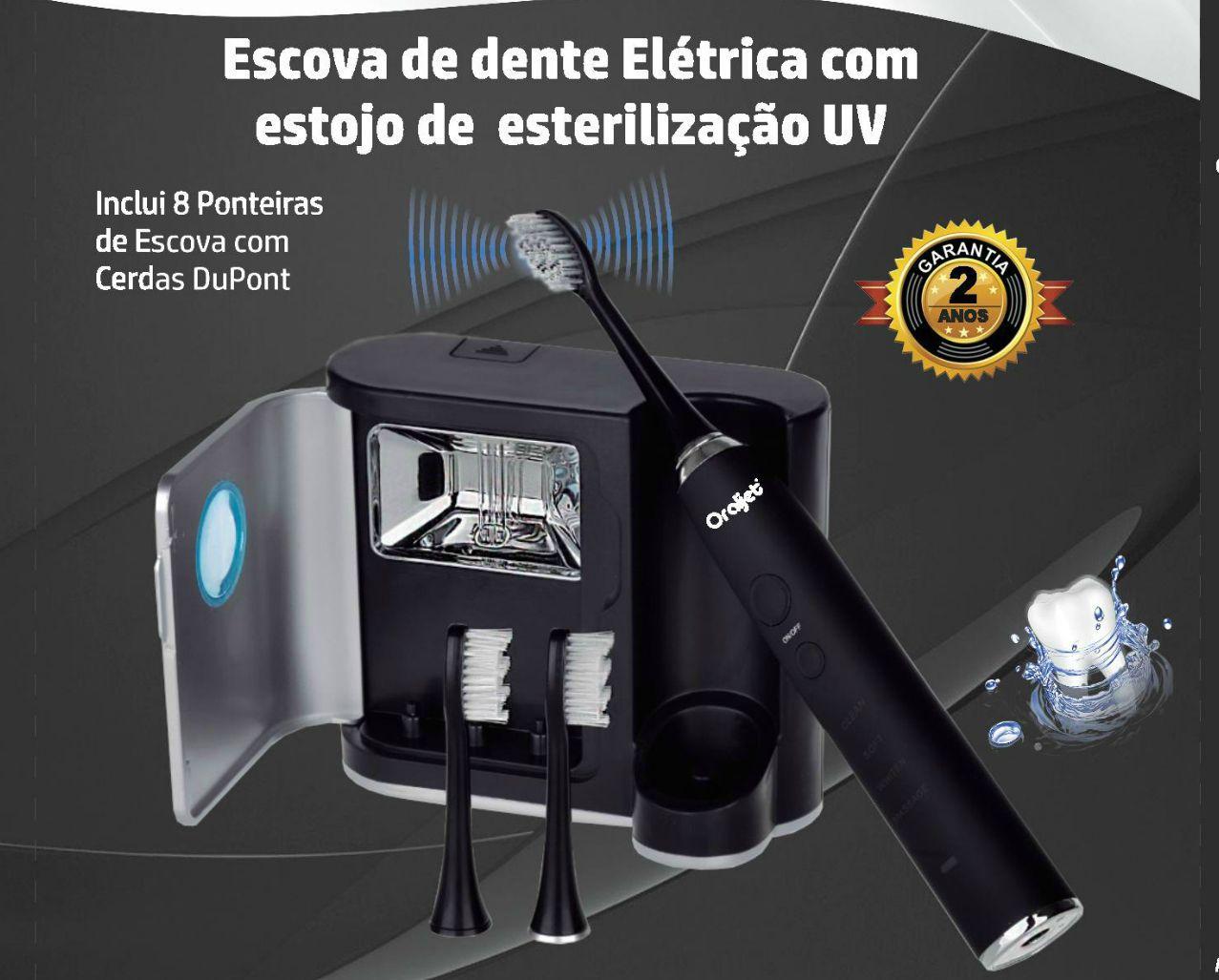 Oraljet Escova Dental Elétrica Ultrassônica SonicJet Profissional Alta Perfomance Ultra Família