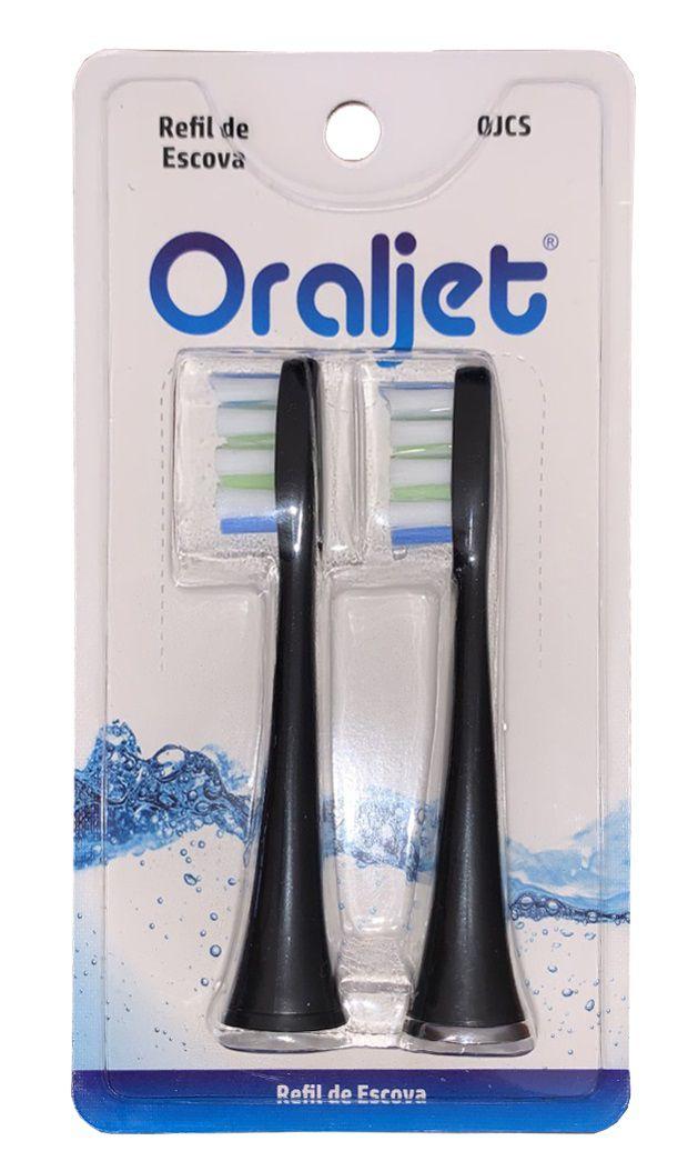 Oraljet Refil Sonic Jet Cabeça de Escova Modelo OJCS Dentes Sensíveis Remineralizador